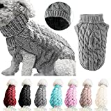 Petyoung Dog Sweater Vest Warm Coat, Pet Soft Knitting Wool Winter Sweaters Knitted Crochet Coat Clothes for Small Medium Large Dogs
