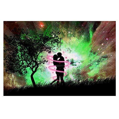osmanthusFrag 5D Voller Runden Diamant Kuss Liebhaber Muster DIY Wandmalerei Kreuzstich Decor 25x35 cm a023-5 -