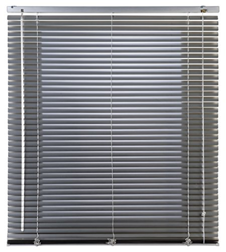 Estores Basic Persiana Veneciana Aluminio, Plata, 120x175 cm