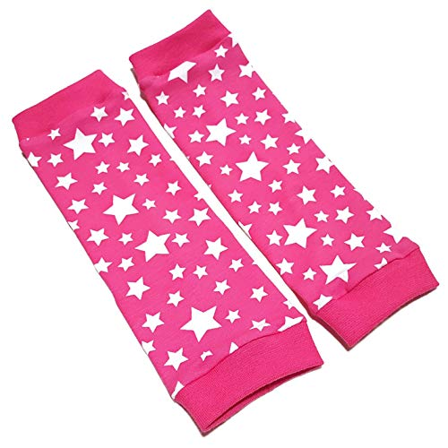 la.nunu Stulpen - Sterne Pink - Beinstulpen für Babys und Kinder   4 Größen verfügbar   Handarbeit   Kinderstulpen und Babystulpen für Mädchen (0-23 Monate)