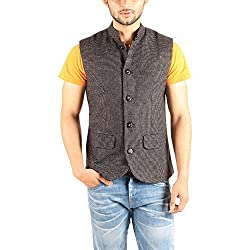 Owncraft Mens Woolen Nehru Jacket (Own_223_Grey_XXX-Large)