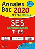 Annales Bac 2020 SES Term ES...