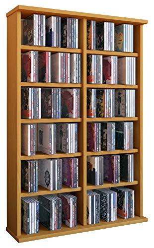 """VCM 50443 Regal Schrank DVD CD Rack Medienregal Medienschrank Aufbewahrung Holzregal Standregal Möbel in 6 Farben \""""Ronul\"""""""
