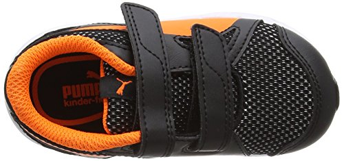 Puma Unisex-Kinder Axis V4 Mesh V Inf Low-Top Schwarz (puma black-orange clown fish 07)