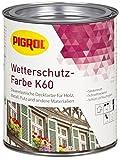 Pigrol Wetterschutz-Farbe K60 - 0,75L - echtgrün Holzfarbe für innen und aussen