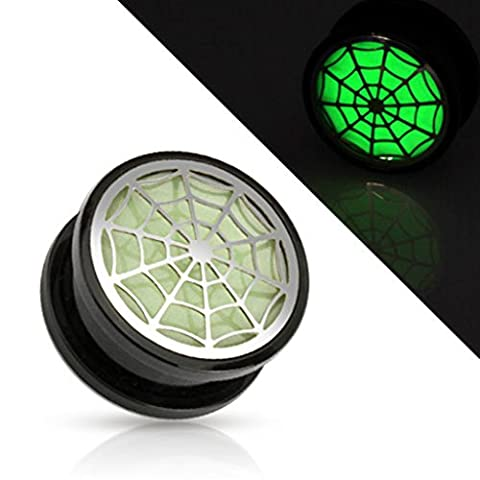 Dynamique Adults Pair Of Hollow Spider Web Glow In The