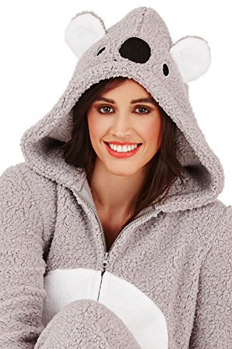 Loungeable Damen Onesie 3D Ohren Schlafanzug – Kiki Koala - 4