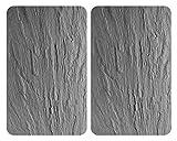 Wenko 2521480100 Protège-Plaque Universel Verre Trempé Gris/Ardoise