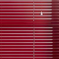 Whitehouse Aurora - Persianas venecianas, aluminio, con rejillas, 25 mm, Rojo, 180cms Wide x 160cms Drop Approx
