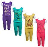 #3: Eazy Trendz Printed Half Sleeve Top & Bottom Tshirt And Pant For Baby Girls -Set Of 4 (4 -5 Years_Multi_28)
