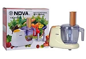 Nova Multi-Functional Vegetable & Meat Chopper - Slicing, Blending & Meat Chopping