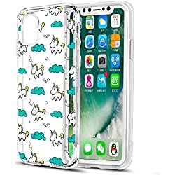 Funda iPhone X, Eouine Ultrafina Cárcasa Silicona 3d Transparente con Dibujos Diseño Suave TPU [Antigolpes] Bumper Case Cover Fundas Movil para Apple iPhone X
