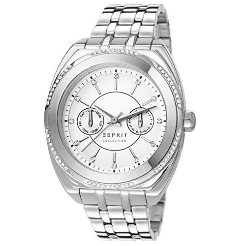 Esprit Damen-Armbanduhr Clymene Analog Quarz Edelstahl EL102072F06