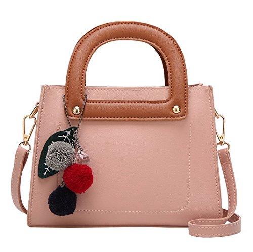 Aotela, Borsa a mano donna Size:16*22*10cm/6.30*8.66*3.94inch(H*L*W), Grey (grigio) - AotelaAA-123456 Pink