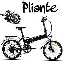 Befied Bicicleta Eléctrica de Montaña Bicicleta Plegable 20 inch con Bateria Litio 36 V Motor 250