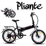 Befied 20inch Vélo de Montagne Électrique 7 Vitesse E-Bike VTT en Alliage d'aluminium Cadre Pliant Chargé 150kg, Chargeur Premium Suspendu, 36V 250W Moteur, 36V Batterie Lithium-ion (Blanc)