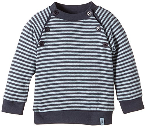 LANA natural wear - Maglione, Bimbo Multicolore (Mehrfarbig (ombre blue-blue air 2204))