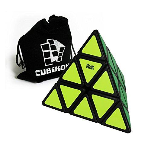 Moyu Pyraminx - schwarz - Zauberwürfel Variante - Speed Pyraminx - inkl. Cubikon-Tasche