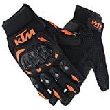 AllExtreme KTM Rider Safety Motosports Polyester Motocross Riding Gloves with Hard Knuckles for Men and Women (XXL)