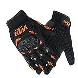 #4: Genxtra KTM Motorcycle Riding/ Safety Gloves (Orange and Black_Large)