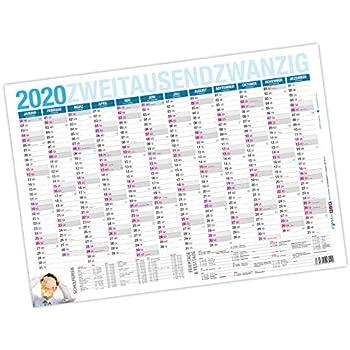 25er Pack Tafelkalender für 2019 DIN A4 quer Kalender Planer Timer