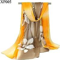 XBR l'écharpe de lys, de façon conique conique écharpe, foulards, écharpes, des lys, des accessoires et des foulards en soie dames