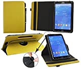 Emartbuy® Blaupunkt Polaris 808 Tablet PC 8 Zoll Universal (7-8 Zoll) GepolsterteDesign Dark Senf 360GradrotierendeStandFolioGeldbörseTascheHülle + Schwarz Eingabestift