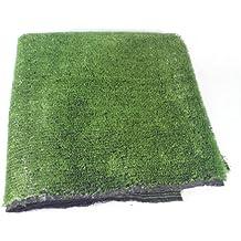 Alfombra de césped artificial, 90 x 90 cm, color verde