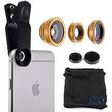JZK®3in1 Lente Kit Fisheye Lens + Gran Angular + Lente Micro Camera para IPHONE 6S / 6 / 5S / 5,SAMSUNG S6 /S5/ S4/ Note3 / Note2 etc.