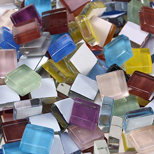 ULTNICE 10mm Petits carreaux de mosaïque pour artisanat Mosaïque en cristal mélangé (dix couleurs)