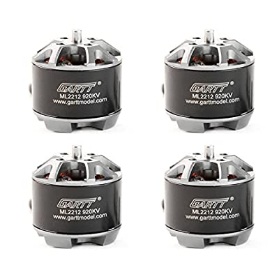 Gartt 4PC ML2212 920KV Brushless Motor with 4PC Propeller Nut Cap and Adapter CW/CCW For FPV Drone Quadcopter Multicopter by Gartt