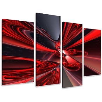 Visario 6137 Image sur toile en 4 parties Fantaisie 130 x 80 cm