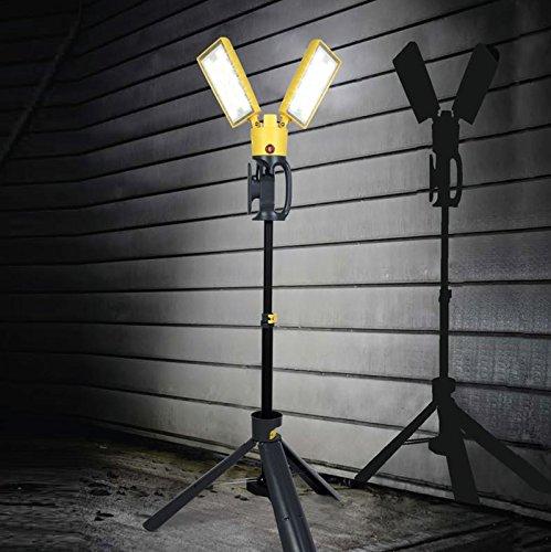LUTEC entwicklungsgehalt-Stativ Arbeitsleuchte LED Decoder 35W, gelb, 74.8X 136cm