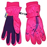 N'Ice Caps Girls Thinsulate Waterproof Glove with Flower Tattoo Print