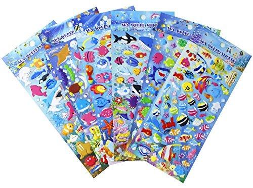 Estas pegatinas para el mundo del mar son muy populares para los niños. También para adultos como ellos. Este juego de pegatinas HighMount Sea World es perfecto para proyectos escolares, álbumes de recortes, tarjetas y regalos de fiesta de cumpleaños...