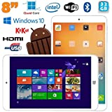 Tablette Windows 10 + Android Dual Boot 8 pouces Intel Quad Core 32Go