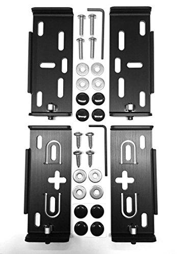 Preisvergleich Produktbild AluFixx Car MB Set schwarz matt eloxiert Nummernschildhalter Kennzeichenhalter PKW Aluminium