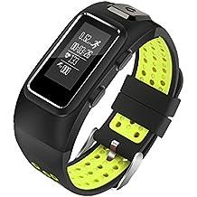 Bluetooth Smart pulsera Fitness Rastreador de actividad con monitor de frecuencia cardíaca reloj banda de GPS