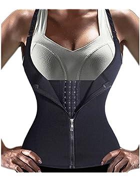 Butterme Cintura del Corsé de Bustier de Las Mujeres Cinturones Shapwear Entrenamiento Cincher Moldeador Bodysuit,L