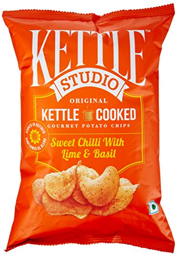Kettle Studio Potato Chips, Sweet Chilli with Lime and Basil, 125g