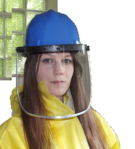 Schutzhelm mit großem transparentem Klappvisier -