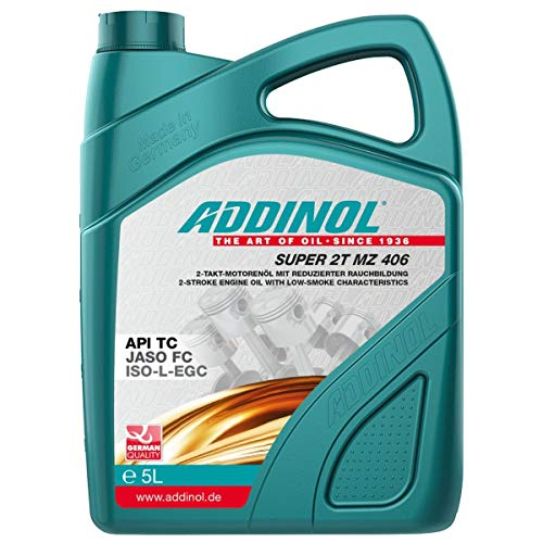 ADDINOL, Super 2T MZ 406, olio sintetico ad alta prestazione per motore a 2 tempi, confezione da 5lit
