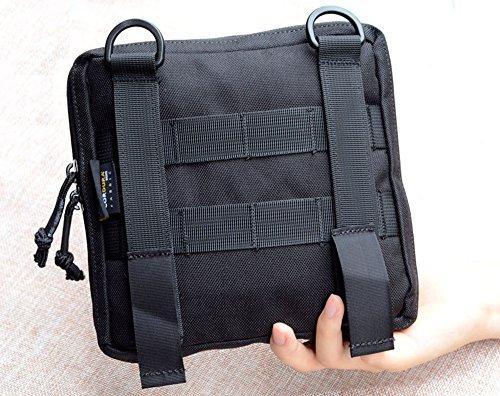 Low Profile OP EDC Tactical Tasche Nylon Molle Tactical Utility Organizer Tasche Tactical Organizer Stealth Admin Organizer Tasche Schwarz