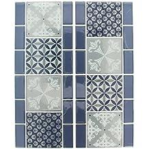 Artemio Cenefa Set de 2 Adhesivos Mosaico, Resina epoxi, 25,5 x 0