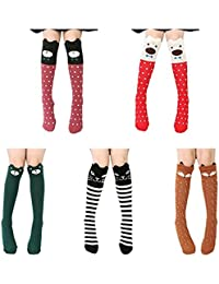 nicebuty 5 par rodillera de calcetines para niña confortable permeabilite alta socquette Fillette ...