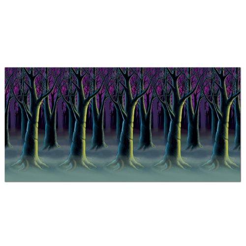 Beistle Spooky Wald Bäume Hintergrund, 4-feet von 30-feet
