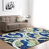 CHAOSE Leichte Weiche Polyester-Baumwolle Bedruckte Fläche Teppich Bodenmatte Geometrisches kleines Muster Für Wohnzimmer und Schlafzimmer (Style 2, 63 x 48 in(160 x 121.9 cm))