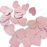 JOOFFF Paper Pentagram Round Love Confetti Geschenkbox Füllpapier Hochzeit Dekorpapier (1 Set), Pink 2