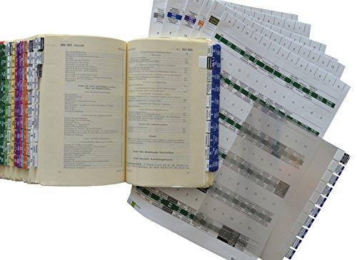 Steinfacher Griffregister fürs Steuerrecht -GESAMTPAKET, 1.900 Aufkleber mit amtlichen Überschriften inkl. 1.500 Folien und 2 Einklebeschablonen