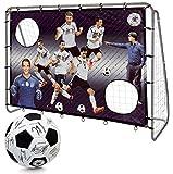 DFB Unisex Jugend 7 Wilde 213cm mit Unterschriftenball Fußballtor Mehrfarbig One Size
